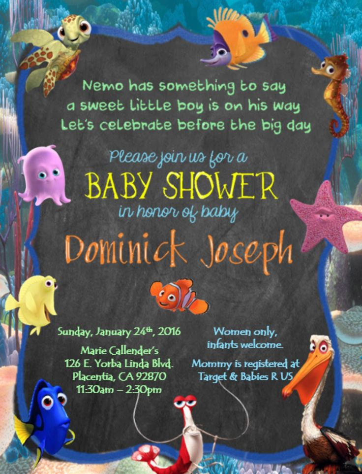 best finding nemo squishy ideas finding nemo  finding nemo baby shower invitations for any occasion contact printableedesignss gmail com