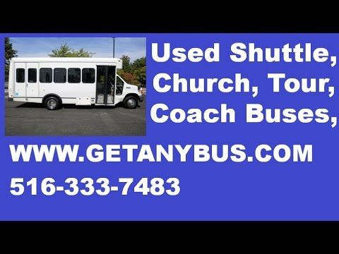 2005 Ford E450 Wheelchair Shuttle Used Bus For Sale For Your Shuttle Business - 14 passengers plus driver non-CDL-shuttle bus, the bus is in great condition for its year and mileage and has been thoroughly reconditioned, checked and road tested, all mechanical functions are in excellent working condition and all fluids have been checked and changed as needed, 12 PASSENGERS AND 2 WHEELCHAIRS. For more information on Used Bus For Sale call CHARLIE at 516-333-7483 or visit us at…
