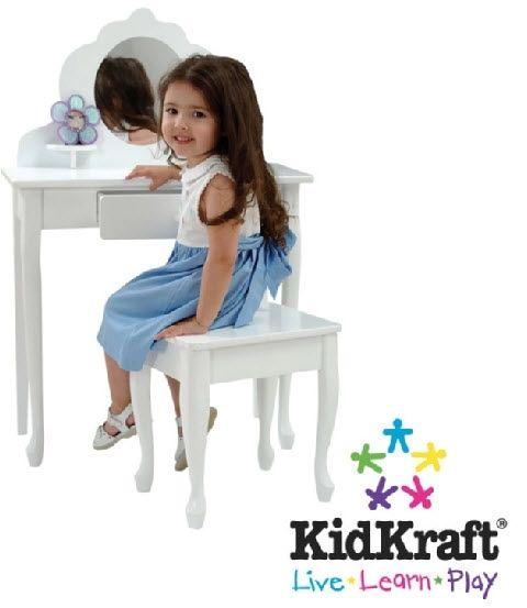 Kaptafel-meisje : KidKraft - Middelgrote kaptafel met kruk