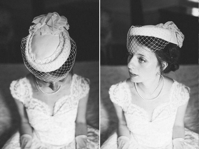 Chapeau voilette http://mariages-retro.blogspot.fr