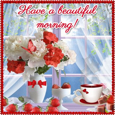 Send this pretty ecard to friends and family and wish them a good morning!