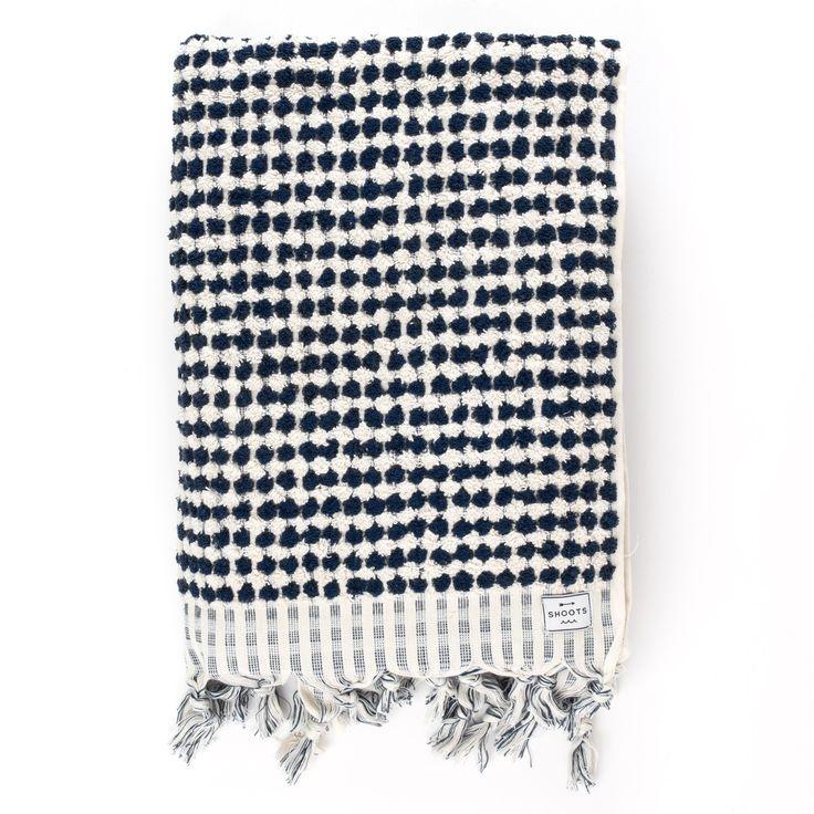 Shoots - Presidio Black and White Terry Towel