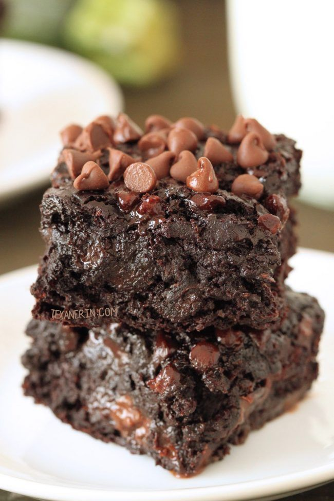 100% Whole Grain (can also be made with all-purpose flour) + Dairy-free Chocolate Zucchini Brownies - nobody will have a clue that these are made healthier