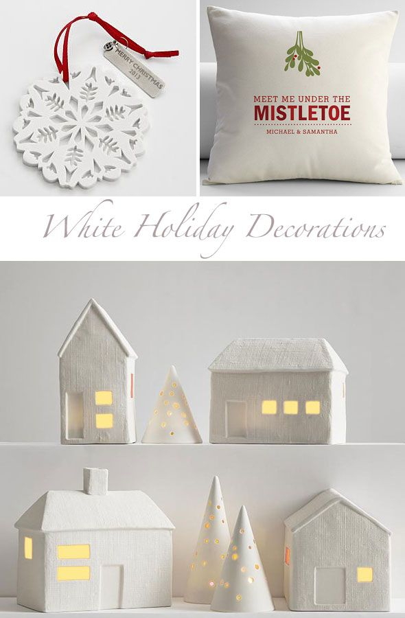 White Christmas decorations from http://www.redenvelope.com/?ref=redsclkatjavip