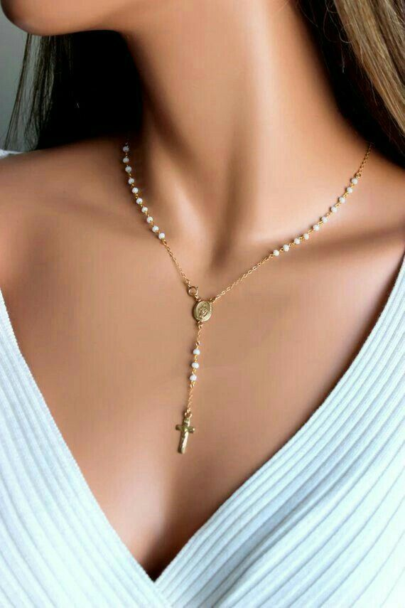 Silver925 pearl rosario,tiny pearl rosary,rose gold,pink,yellow gold