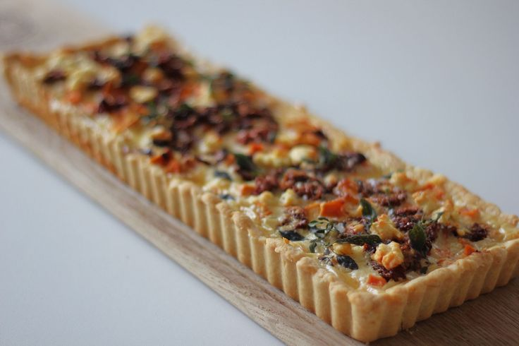 Savoury tarts with no-bake-blind parmesan pastry and delicious fillings:  Caramelised Garlic / Roasted Butternut & Goats Cheese etc etc