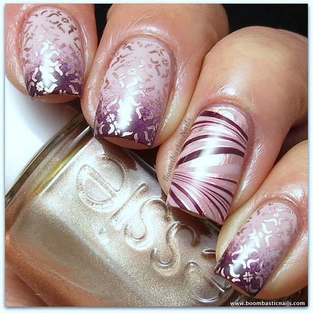 Boombastic Nails: Adventures In Stamping - With an Accent Nail