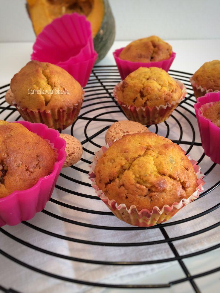 Soffici e delicati muffins con zucca e amaretti 😋