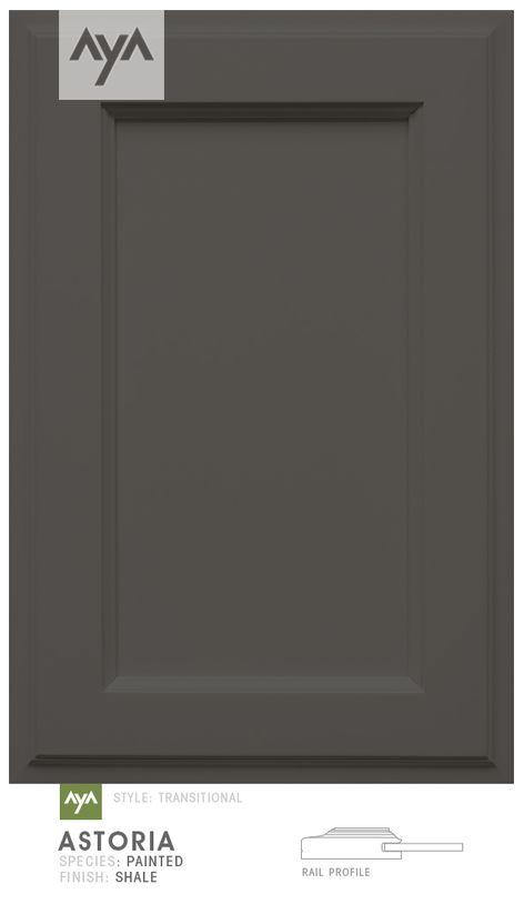 AyA Kitchens - Astoria Shale painted door.