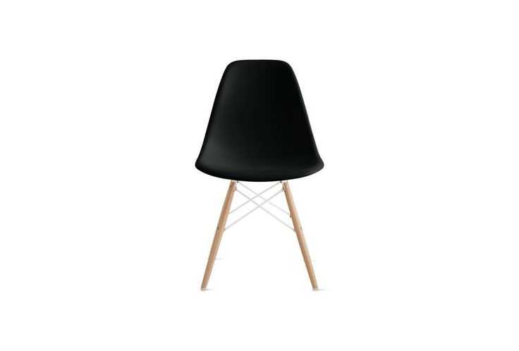 Check out the Eames Molded Plastic Side Chair with Wood Dowel Base in Dining Chairs from Design Within Reach for 439.00.