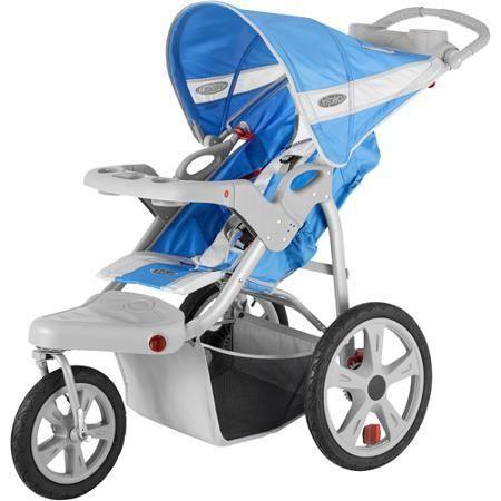 Baby Stroller InStep Safari Single Jogging Blue - Strollers