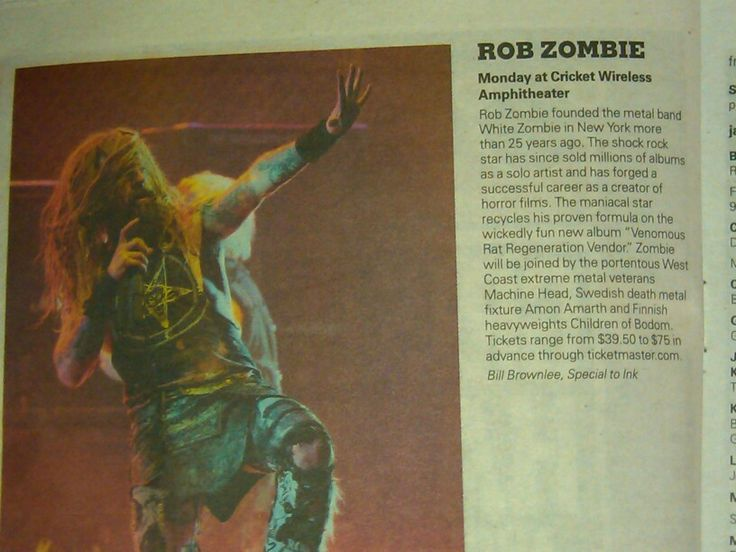 ROB  ZOMBIE Cricket wireless Amphitheater  Bonner springs  Kansas 2013