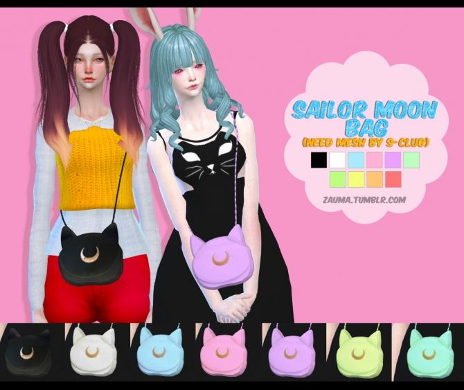 Sailor Moon bag at Zauma via Sims 4 Updates