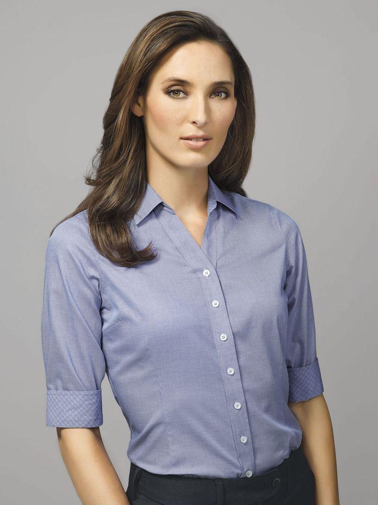 Hudson 3/4 Sleeve Shirt #bizcorporates #boulevard #hudson #yarndyeddobby