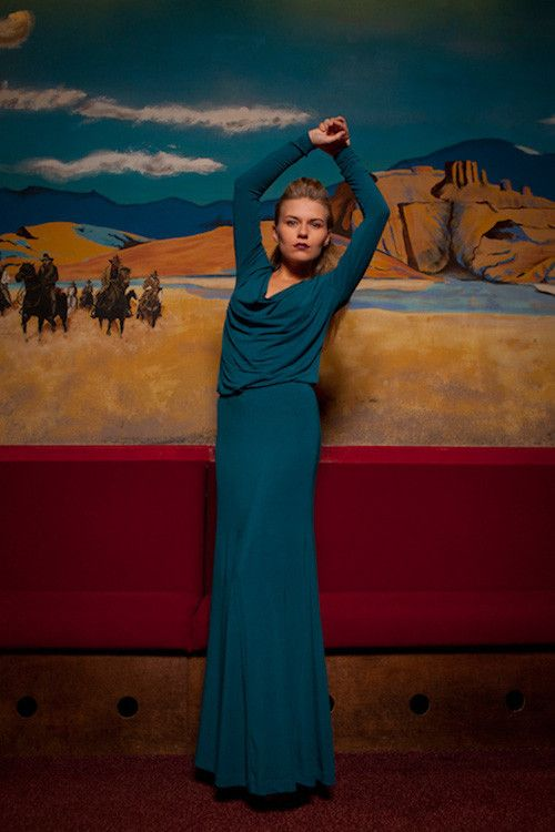 Roseannah - Ava Maxiskirt - Teal - by Nancy Dee - Ethical fashion
