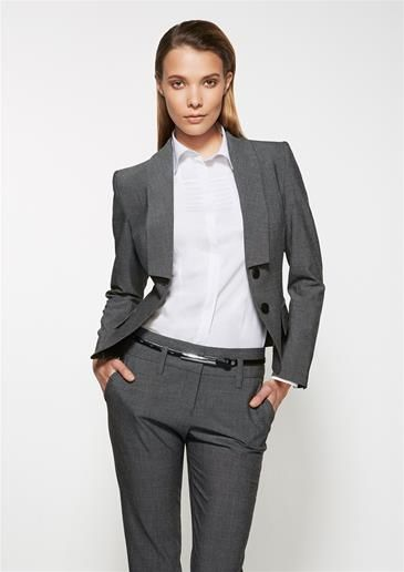 Como Ladies Cropped Jacket | Biz Corporates Como | Corporate Uniforms | Head Office - www.uniforms.com.au