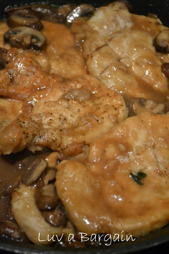 Low fat easy chicken marsala recipe