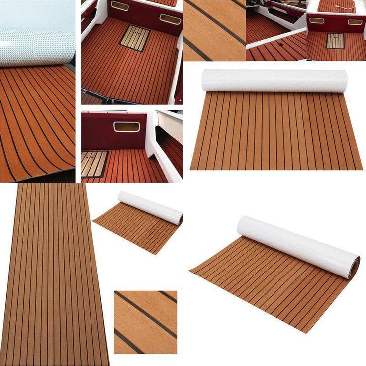Marine Flooring Faux Teak EVA Foam Boat Decking Sheet Brown 240cm x 120cm x 5mm #MarineFlooring
