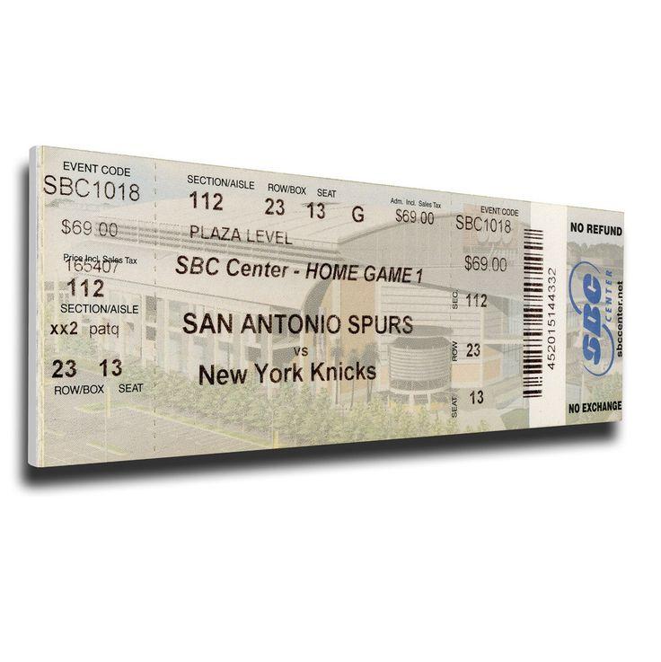 San Antonio Spurs Wall Art - 1999 NBA Finals Canvas Mega Ticket, Game 1