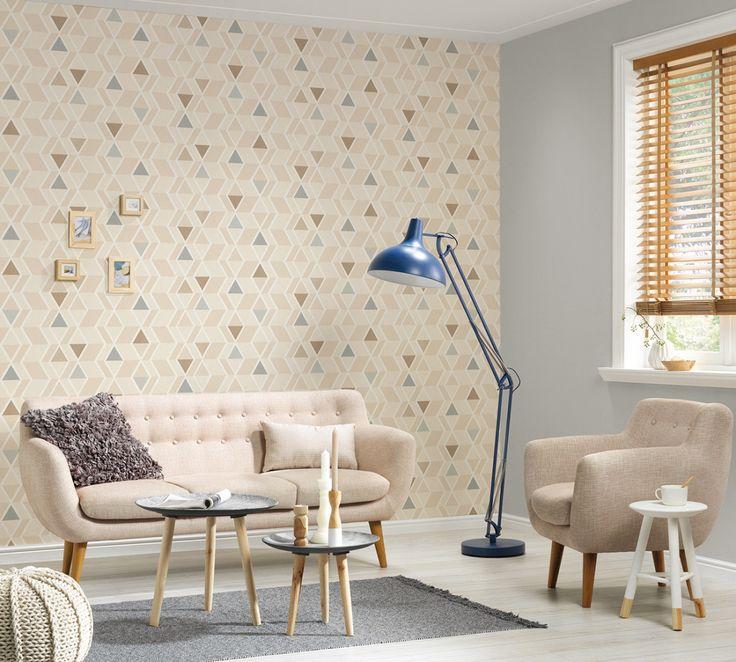 """Den Wänden einen skandinavischen Look verpassen mit den Tapeten aus der Kollektion """"New Look"""" A.S. Création Tapete 329933"""