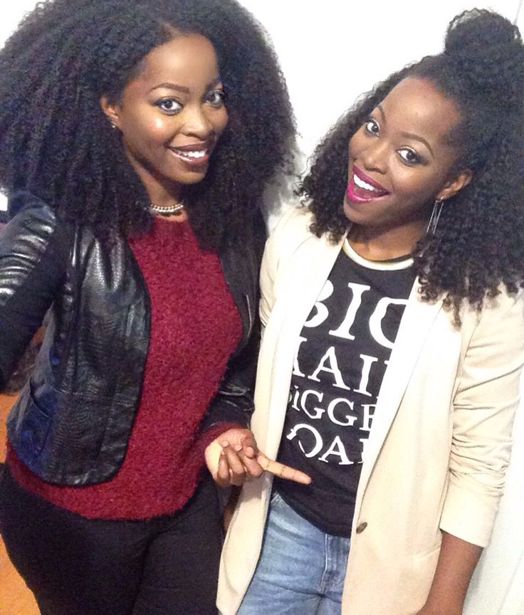 Msnaturallymary And Twin Sister Protective Style Using Hergivehair Natural Hair Extensions