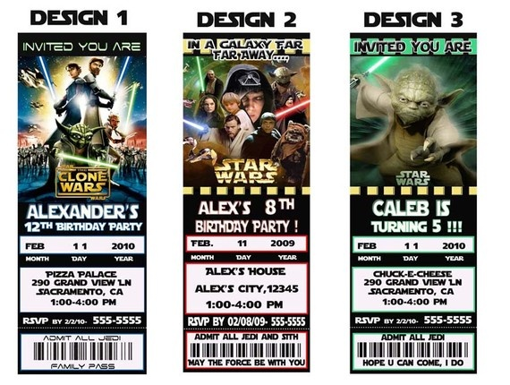 Star wars party invitation