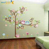 Hunnt® Large 59''x57'' Colorful Owl Big Tree Animal Garden Wall Stickers Removable Wall Decal Sticker,super for Girls and Boys Nursery Baby Room Children's Bedroom