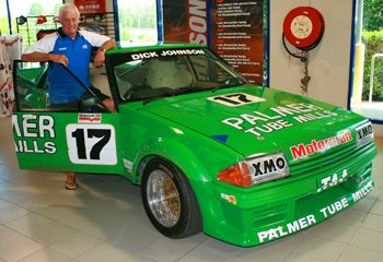 The legend Dick Johnson and his XE Ford Falcon