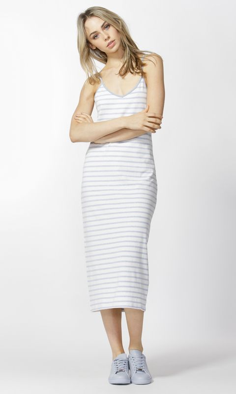 Betty Basics - Lily Dress In Ocean Marle/Ivory Stripe B