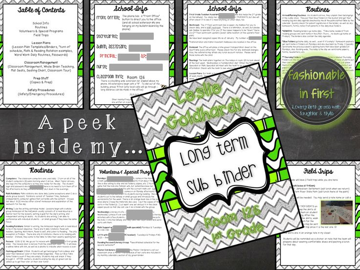 Fashionable in First: Where I've Been & a Sub Binder {FREEBIE}