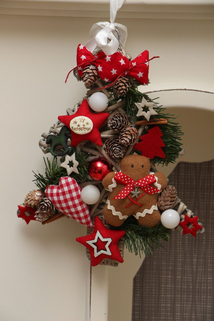 Türkranz Tannenbaum Weihnachten Lebkuchenmann Stern Tilda Unikat In Möbel U0026  Wohnen, Dekoration, Außen