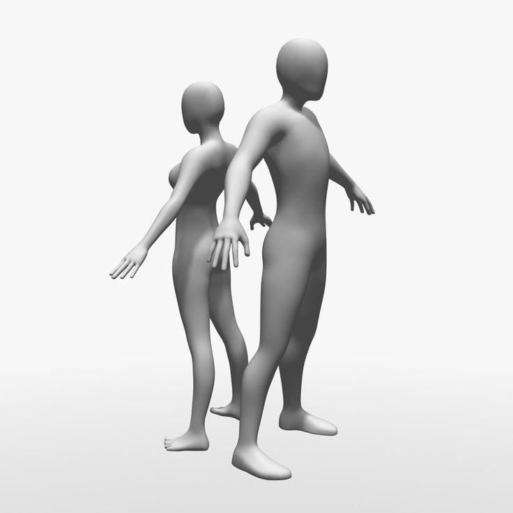 female male 3d model