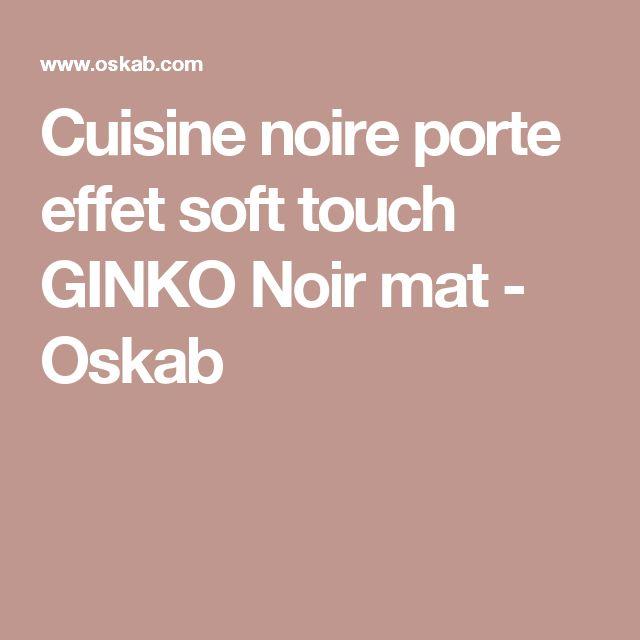 Cuisine noire porte effet soft touch GINKO Noir mat - Oskab