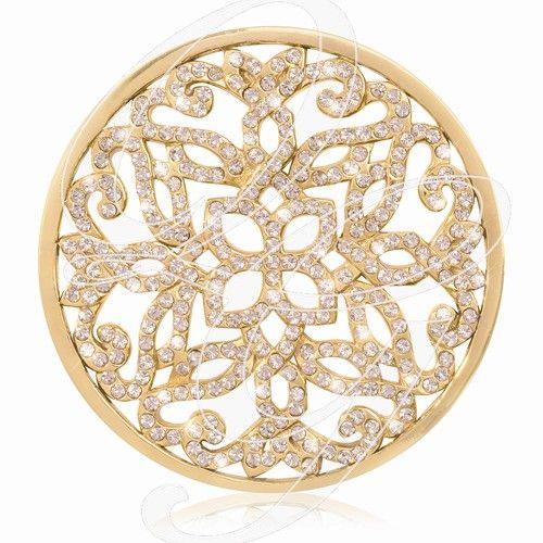 Nikki Lissoni Gold-tone Baroque with Swarovski® Elements Coin