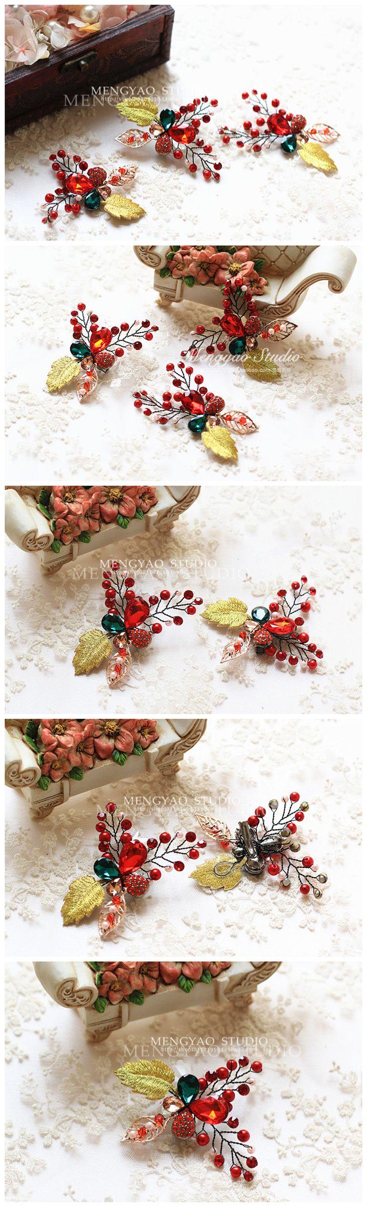 Костюм невесты головного убора шпилька шпилька шпилька небольшие традиционные свадебные блюда украшения для волос аксессуары для волос свадебное платье аксессуары - Taobao