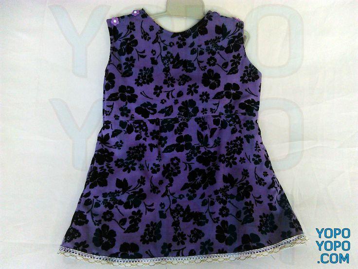 BENEK01M Kız Çocuk Elbise Renk: Lila – Siyah  Kumaş: %100 Pamuklu Yumuşak  Boy: 43 cm  En:  30 cm  Fiyat: 40 TL  Kargo: Alıcıya Ait (Firmayı seçebilirsiniz)