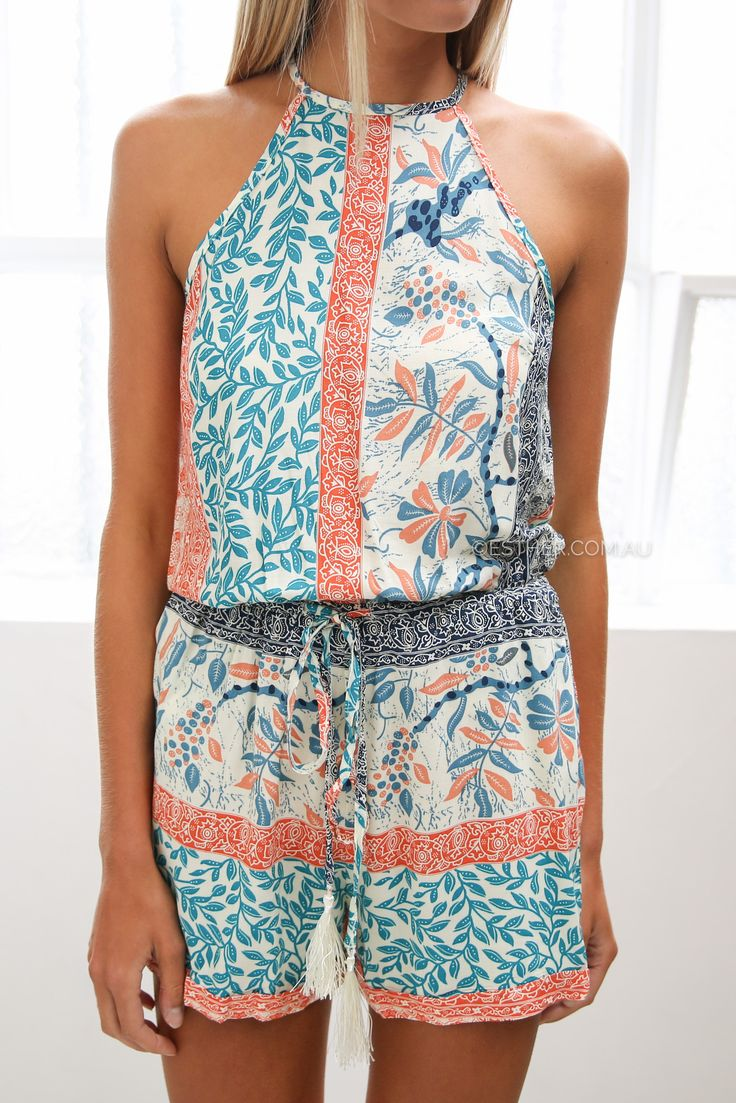 emerson playsuit - multi | Esther clothing Australia and America USA, boutique online ladies fashion store, shop global womens wear worldwide, designer womenswear, prom dresses, skirts, jackets, leggings, tights, leather shoes, accessories, free shipping world wide. – Esther Boutique