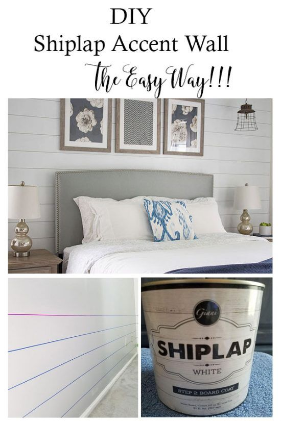 Shiplap Accent Wall – The Easy Way