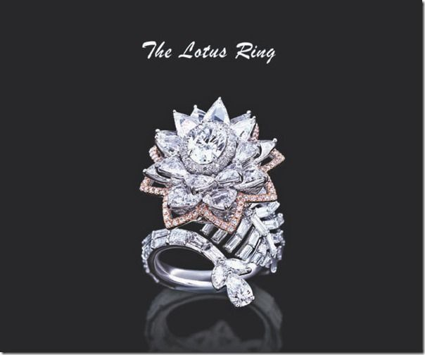 lotus model diamond ring.