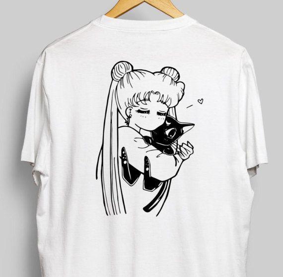 Usagi et Luna chemise de Sailor Moon Anime Tee  Usagi
