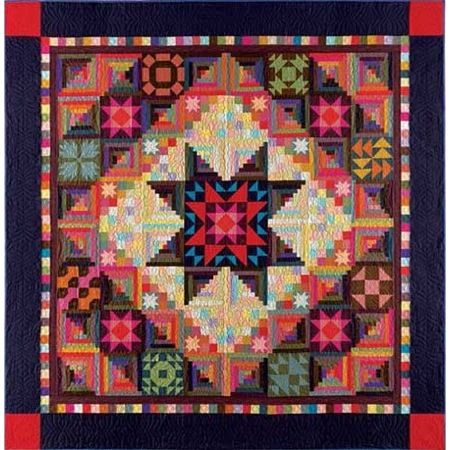 "Marcus Nancy Rink Amish with a Twist 2 Quilt Kit 105"" x 105""  --  Yet another way to make a log cabin quilt!"