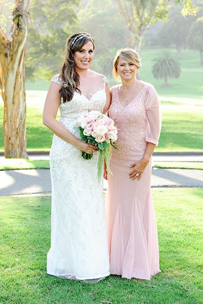 Pink mother of the bride dress by Pronovias