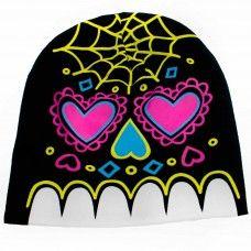 Slouchy Knit Beanie - Sugar Skull. www.nixdungeon.co.nz