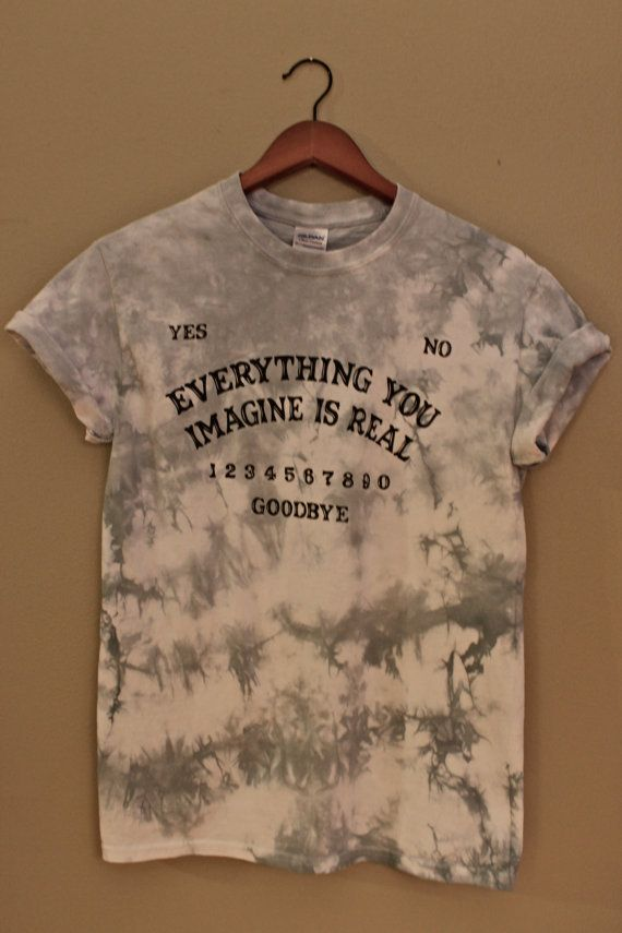 Ouija Board Inspired Tie Dye Unisex T Shirt by shopCarrion on Etsy, $15.00
