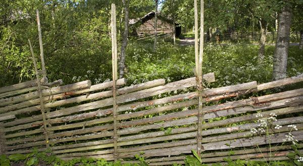 "Classic Swedish ""gärdsgård"". Beautiful fencing for any part of a garden."