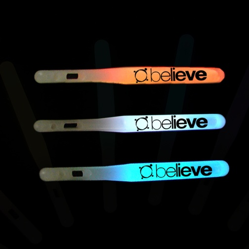 """4"""" Economy Glowsticks - customized.  Price is as low as $0.50 each (for 1000 or more).  Turn time is 3-4 weeks."""