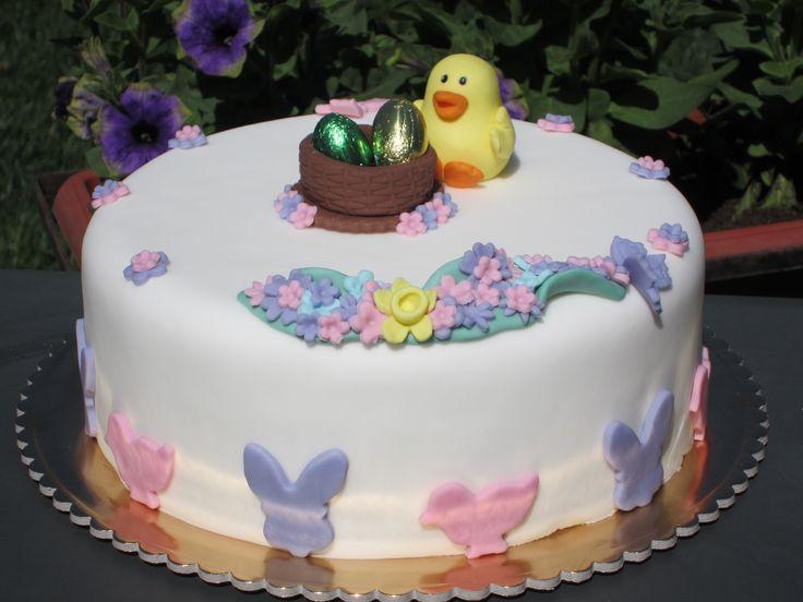 Torta decorata di Pasqua