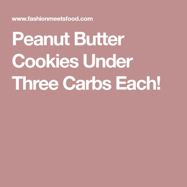 Peanut Butter Cookies Under Three Carbs Each!