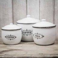 Lattine di metallo - Caffè e tè
