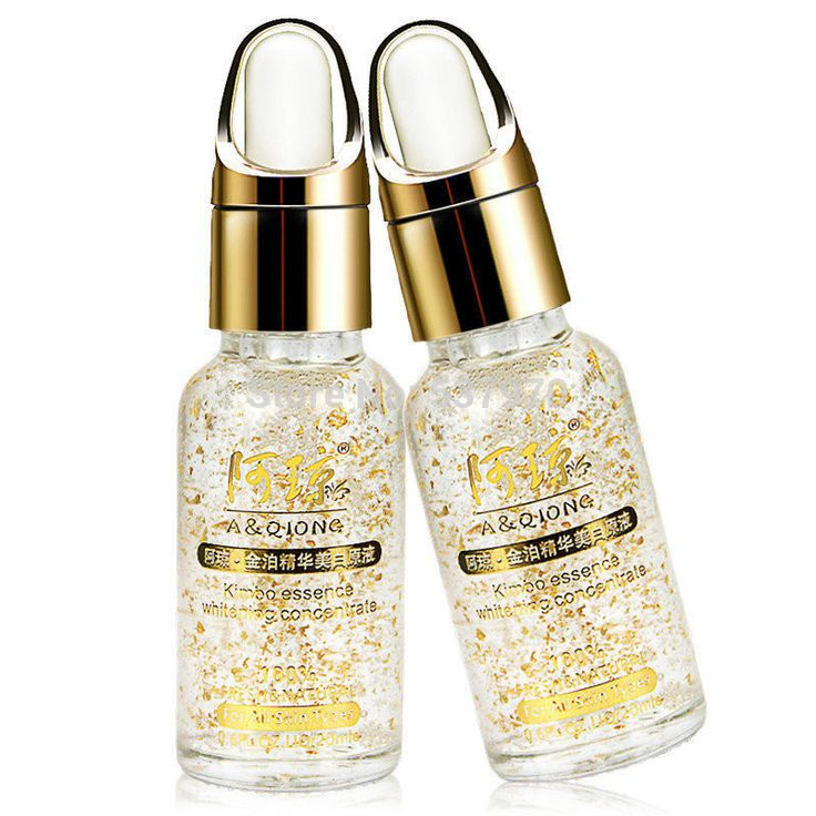 Good 24k pure gold foil whitening moisturizing essence hyaluronic acid liquid cream free shipping Day Creams1pcs